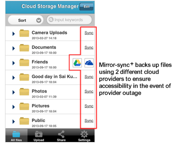 Service - Cloud Storage Manager
