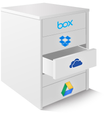 Bring together free cloud storage accounts for you under one roof